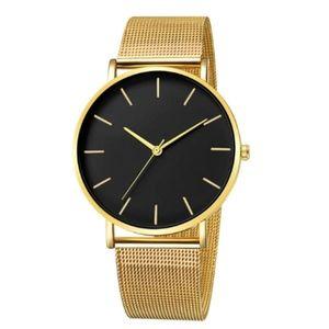 The Minimalist Watch | Gold x Matte Black